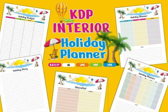Print on Demand: KDP Interior Holiday Planner Graphic KDP Interiors By edywiyonopp