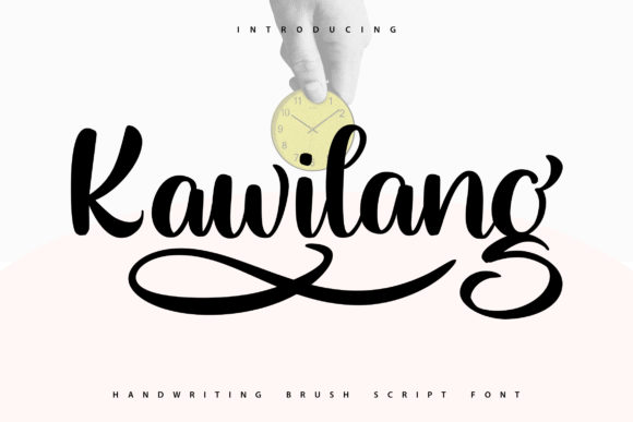 Print on Demand: Kawilang Script & Handwritten Font By Vunira