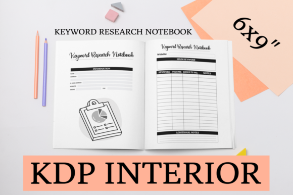Print on Demand: Keyword Research Notebook | KDP Interior Graphic KDP Interiors By KDP Mastermind