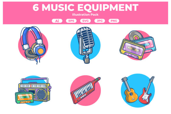 Music Equipment Illustration Collection Graphic Illustrations By JoviMIng