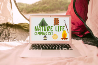 Nature Life - Camping Set Graphic Illustrations By Firefly Designs