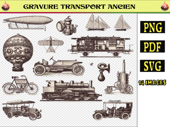 Print on Demand: OLD TRANSPORT ENGRAVING Gráfico Ilustraciones Por kdp Edition