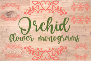 Orchid Flower Monograms Graphic Crafts By Firefly Designs