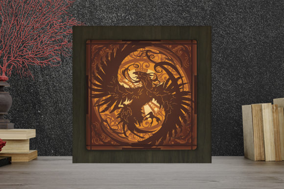 Print on Demand: Phoenix Light Box Shadow Box Graphic 3D Shadow Box By LightBoxGoodMan