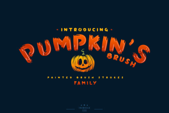 Print on Demand: Pumpkin's Brush Display Font By inumocca_type