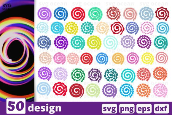 Rolled Flower SVG Bundle Graphic Crafts By SvgOcean