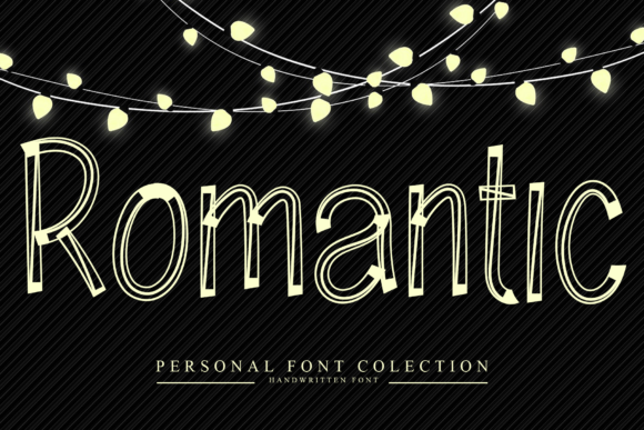 Print on Demand: Romantic Display Font By dazzlinggleam