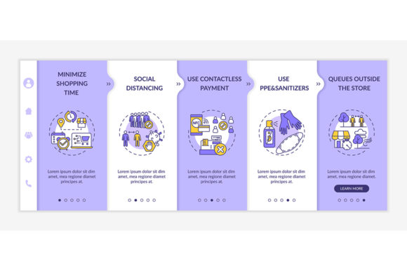 Print on Demand: Safe Shopping During Covid Advices Graphic Graphic Templates By bsd studio