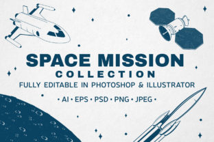 Space Mission  Collection Graphic Logos By serdiuk.igor