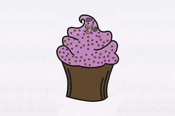 Sweet Pink Cupcake Design Dessert & Sweets Embroidery Design By DigitEMB