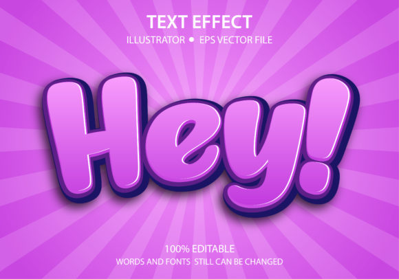 Text Style Effect Cute Hey Premium Graphic Graphic Templates By yosiduck