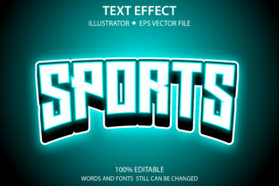 Text Style Effect Glow Sports Premium Graphic Graphic Templates By yosiduck