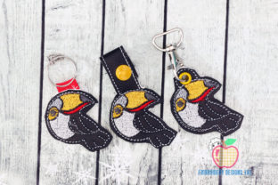 Toucan Bird ITH Keyfob Birds Embroidery Design By embroiderydesigns101