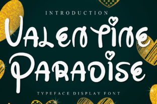 Print on Demand: Valentine Paradise Display Font By Misterletter.co