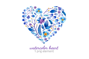Print on Demand: Valentine's Day Watercolor Clipart Graphic Objects By ValinMalin