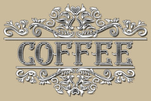 Print on Demand: Vintage Frame Coffee Vector SVG Graphic Illustrations By GraphicsFarm
