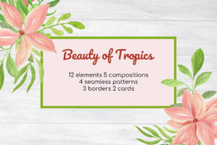 Print on Demand: Watercolor Tropical Summer Clipart Set Graphic Objects By art.rm