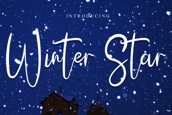 Print on Demand: Winter Star Script & Handwritten Font By dazzlinggleam