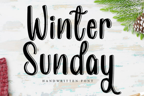 Print on Demand: Winter Sunday Script & Handwritten Font By Inermedia STUDIO