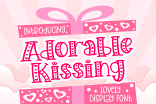Print on Demand: Adorable Kissing Display Font By Dreamink (7ntypes)