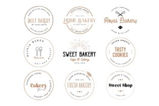 Bakery Stamp Logo Collection Graphic Logos By chicgraphix