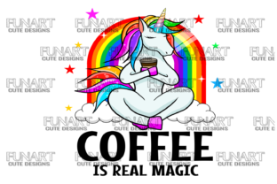 Coffee is Real Magic Graphic Illustrations By Fundesings