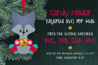 Print on Demand: Candy Holder Christmas Ornament Wolf SVG Graphic 3D Christmas By Olga Belova