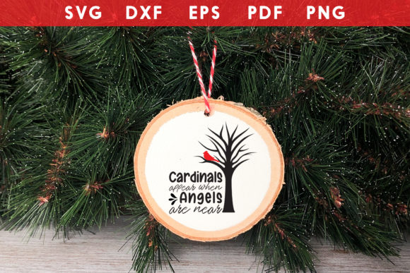 Christmas Cardinal Ornaments SVG Graphic Crafts By CraftlabSVG