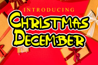 Print on Demand: Christmas December Display Font By ABBAsalam