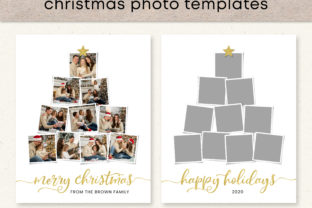 Christmas Photo Collage Template Graphic Print Templates By Emma Doan Design