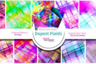 Print on Demand: Dopest Plaid Watercolor Paper Graphic Backgrounds By Digital Doodlers