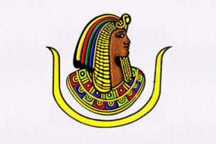 Egyptian Pharaoh Head Africa Embroidery Design By DigitEMB