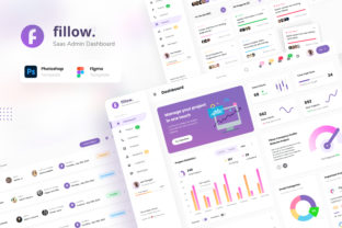 Print on Demand: Fillow - Saas Admin Dashboard UI Graphic UX and UI Kits By peterdraw