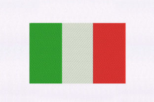 Flag of Italy Independence Day Embroidery Design By DigitEMB