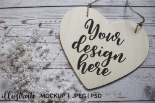Print on Demand: Heart Sign Mockup |  Stock Photography Graphic Crafts By illuztrate