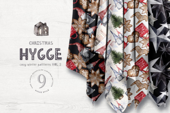 Hygge Christmas Patterns Pack Vol2 Graphic Patterns By Busy May Studio