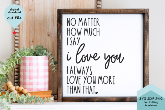 Print on Demand: I Love You, Valentines SVG Graphic Crafts By Lettershapes