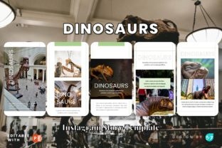 Instagram Story Template - Dinosaurs Graphic Graphic Templates By 57creative 2