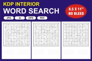 Print on Demand: KDP Interior Word Search Puzzle Graphic KDP Interiors By edywiyonopp