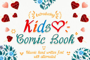 Print on Demand: Kids Comic Book Script & Handwritten Font By numnim