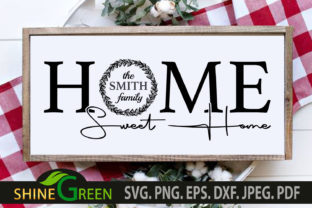 Print on Demand: Monogram Home Sweet Home Family Wedding Graphic Crafts By ShineGreenArt