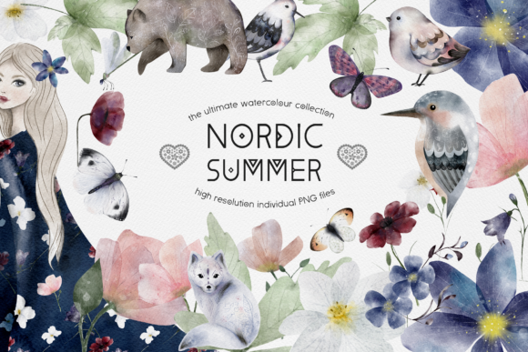 Print on Demand: Nordic Summer Ultimate Collection Graphic Illustrations By Busy May Studio