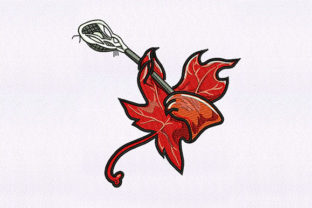 Playing Maple Leaf Cleaning Embroidery Design By DigitEMB