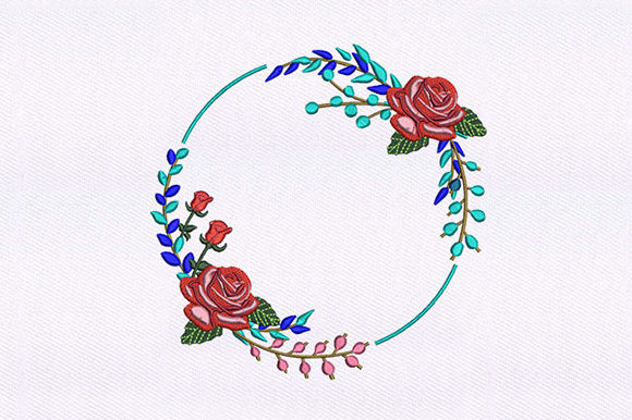 Round Flower Quilting Single Flowers & Plants Embroidery Design By DigitEMB