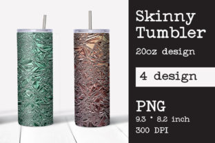 Print on Demand: Skinny Tumbler Sublimation Foil Crush Graphic Print Templates By KundolaArt