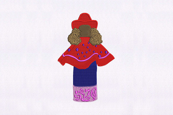 Skirt and Poncho Girl Design Clothing Embroidery Design By DigitEMB