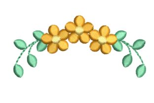 Small Floral Wreath Floral Wreaths Embroidery Design By carasembor