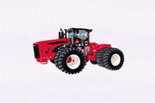 Sound Red Tractor Transportation Embroidery Design By DigitEMB