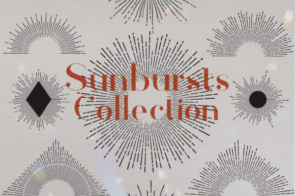 Sunbursts Vector Collection Graphic Objects By LunaDesign