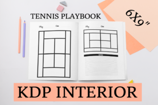 Print on Demand: Tennis Playbook | KDP Interior Graphic KDP Interiors By KDP Mastermind